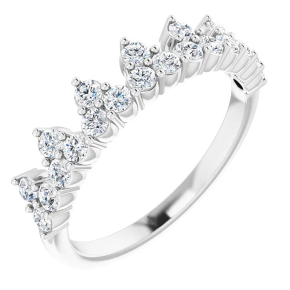 302® Fine Jewelry Princess Crown Ring with Lab Grown Created Diamonds