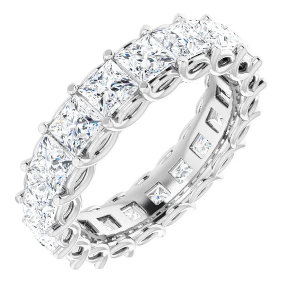 3.33 Ct. Princess Cut Diamond Eternity Band in 14K White Gold