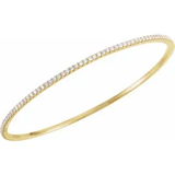 2 Ct Lab Grown Diamond Bangle Bracelet VS2/F+ in 14K Gold - Roxx Fine Jewelry