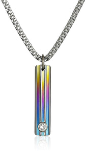 Edward Mirell® Radiance™ Collection Anodized Titanium Rainbow Necklace & Earrings - Roxx Fine Jewelry