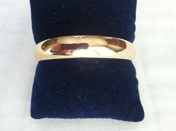 Wide High Polished Bangle Bracelet 9/16