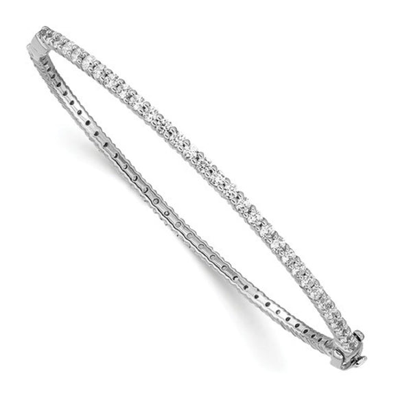 Eternity Diamond Bangle Bracelet 2.50 Ct. in 14K White Gold - Roxx Fine Jewelry