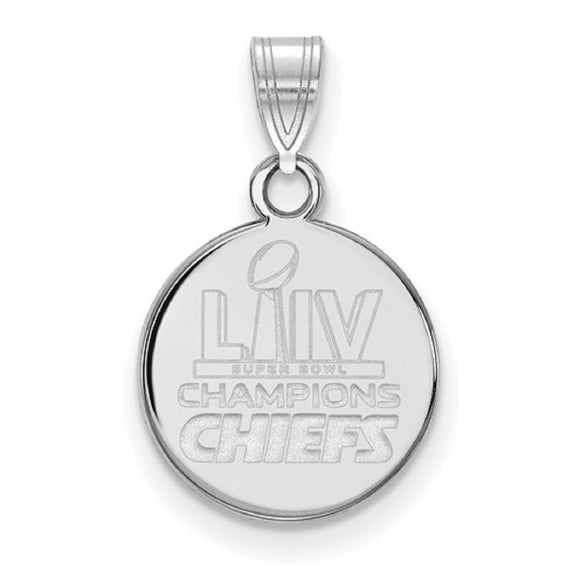 Kansas City Chiefs® Super Bowl Champions NFL® Licensed Disc Necklace 2 Sizes - Roxx Fine Jewelry