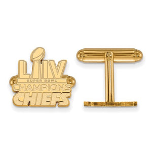 Kansas City Chiefs® Super Bowl Champions NFL® Licensed Cuff Links - Roxx Fine Jewelry