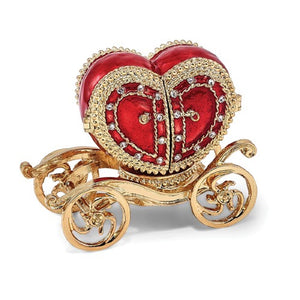 Heart Shaped Carriage Ring Holder and Necklace - Roxx Fine Jewelry