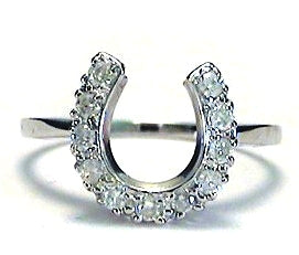 Diamond Horseshoe Ring .25 Cts. set in 14K White Gold