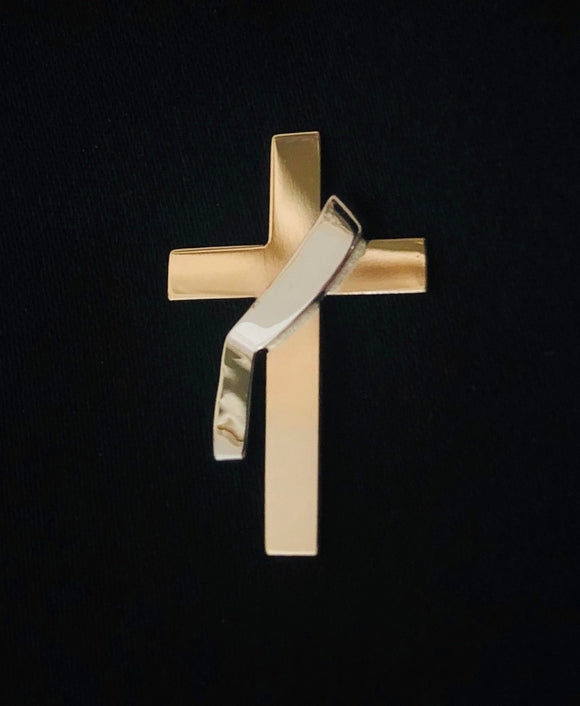 Deacon's Cross Lapel Pin or Tie Tack in 14K Gold - Roxx Fine Jewelry