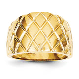 Marquise Pattern 14mm Wide Tapered Dome Ring