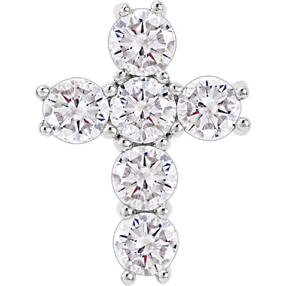 Diamond Cross Pendant 1.50 Ct TCW in 14K Gold or Platinum - Roxx Fine Jewelry