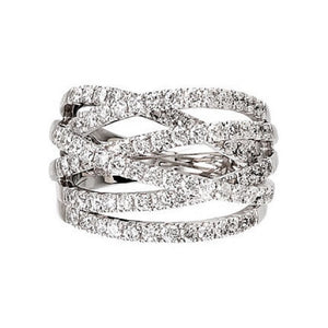 1.50 Ct. Diamond Highway Band in 14K White Gold - Roxx Fine Jewelry