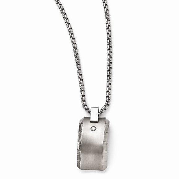 Edward Mirell® Templar™ Collection Brushed Titanium Chiseled Edge Jewelry - Roxx Fine Jewelry