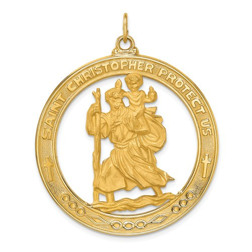 St Christopher Medal 14K Yellow Gold - Roxx Fine Jewelry
