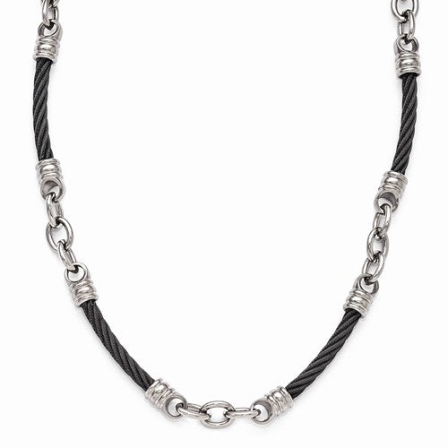 Edward Mirell® Signature Cable™ Collection Titanium & Sterling Link Jewelry - Roxx Fine Jewelry