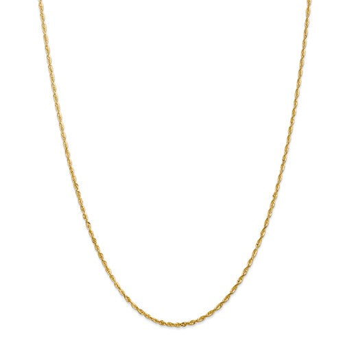 Diamond Cut Light Rope Chain in 14K Yellow Gold - Roxx Fine Jewelry