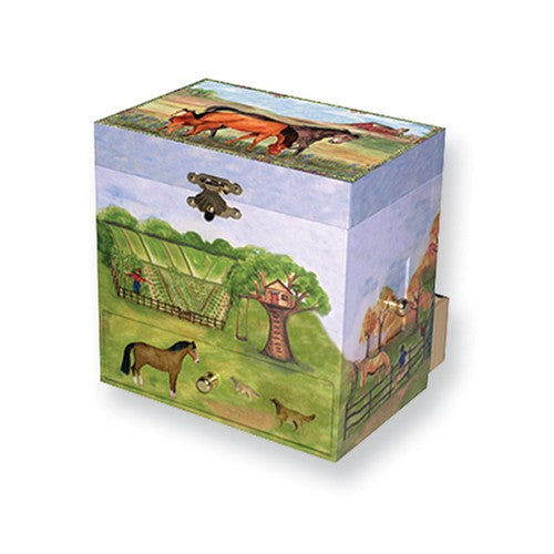 Musical Horse Themed Jewelry Boxes with Mirror - Roxx Fine Jewelry