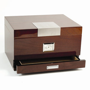 "Humidor Lacquered Walnut ""Miguel"" Contemporary Humidor - Roxx Fine Jewelry"
