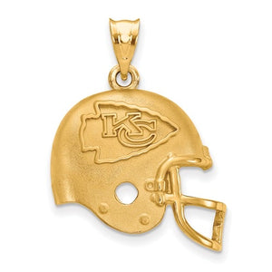 Kansas City Chiefs® Official NFL® Licensed 14K Gold Helmet - Roxx Fine Jewelry