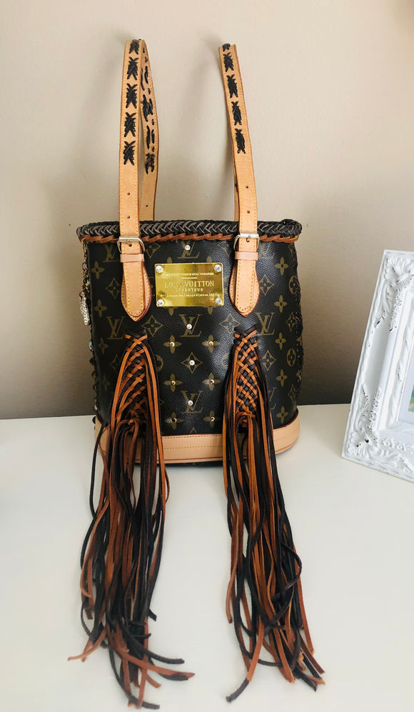 Repurposed Louis Vuitton Petite Bucket Bag