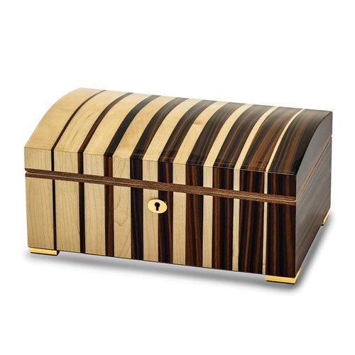 Jewelry Box Jordan Contemporary Striped Maple Wood Locking Jewelry Box - Roxx Fine Jewelry