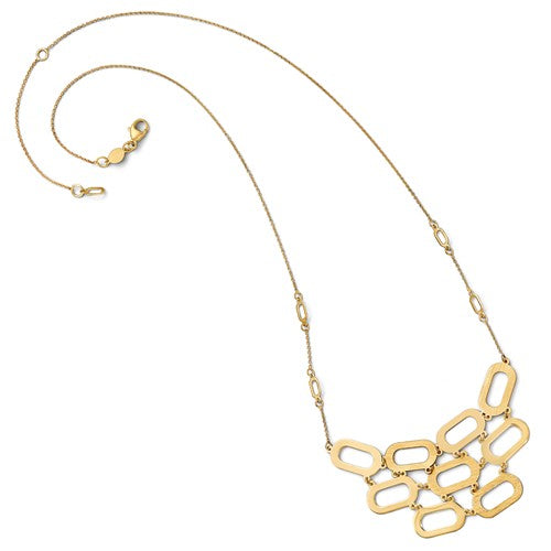 Neptune Contemporary Status Necklace in 14K Yellow Gold