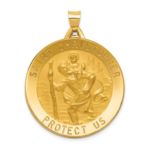 St. Christopher Medal in 14K Yellow Gold M1488 - Roxx Fine Jewelry