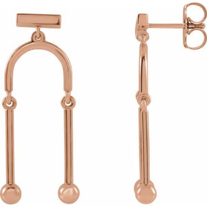 302® Mobile Dangle Earrings in 14K Gold or Platinum