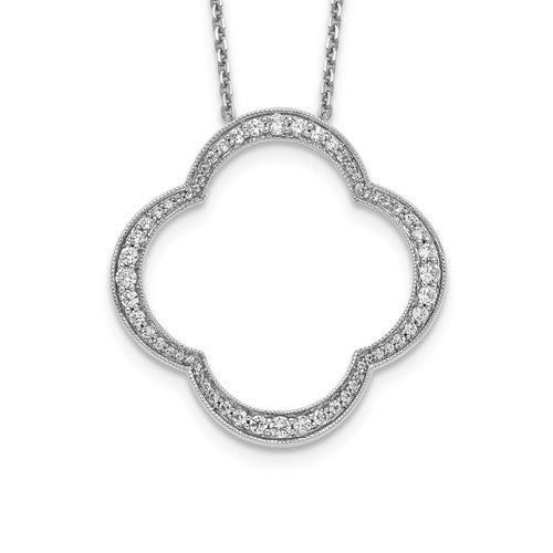 True Origin® .78 Ct Quatrefoil Necklace Lab Grown Diamonds in 14K Gold - Roxx Fine Jewelry