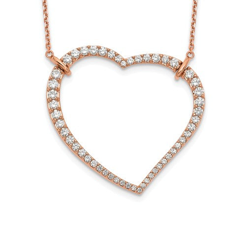 True Origin® 1.81 Ct Heart Necklace Lab Grown Diamonds in 14K Gold - Roxx Fine Jewelry
