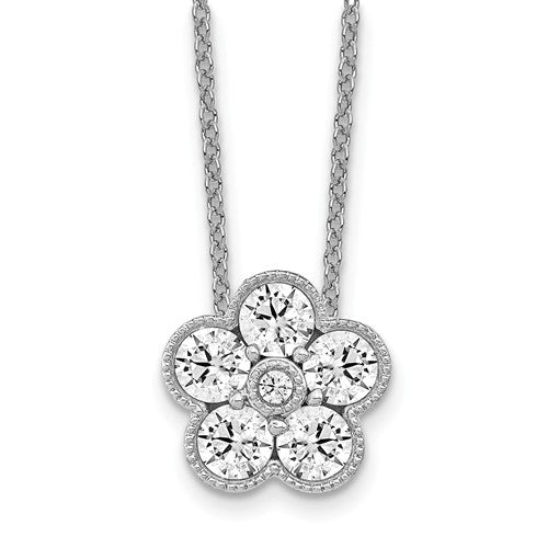 True Origin® 1.01 Ct Flower Necklace Lab Grown Diamonds in 14K Gold - Roxx Fine Jewelry