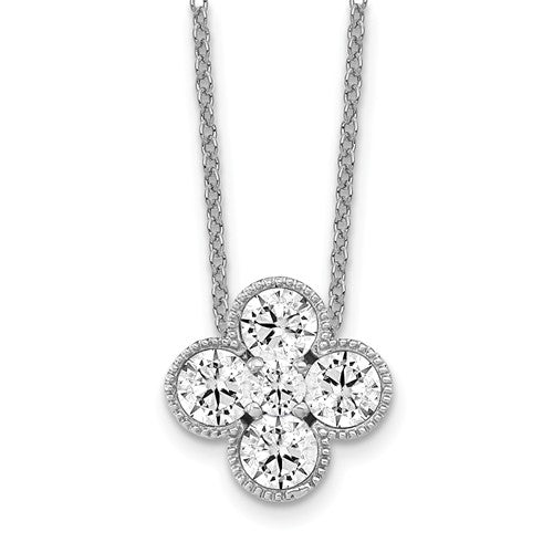 True Origin® 1.01 Ct Bloom Necklace Lab Grown Diamonds in 14K Gold - Roxx Fine Jewelry