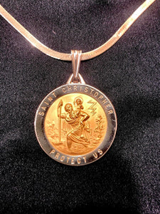 St. Christopher Medal 43 x 29 in 14K Yellow Gold - Roxx Fine Jewelry