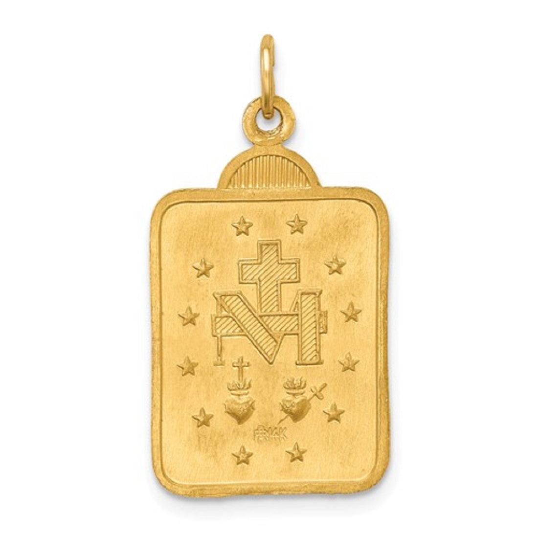 FB Jewels 14K Yellow Gold 12mm Miraculous Medal