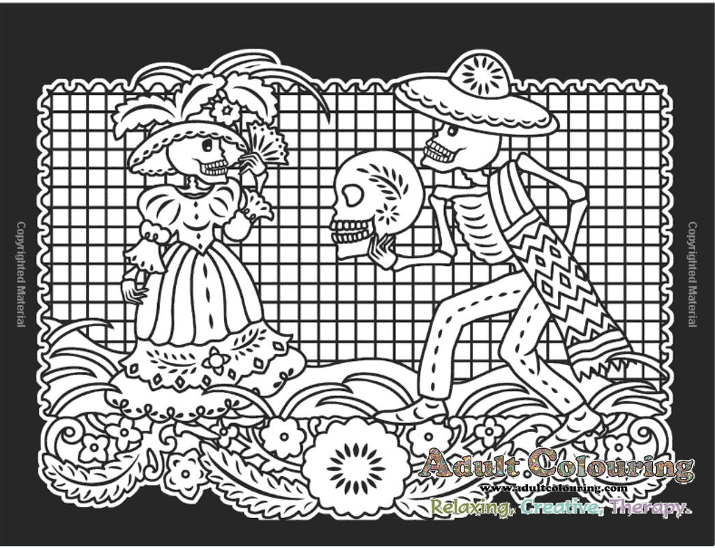 The coloring book of the dead - Day Of The Dead Stained Glass