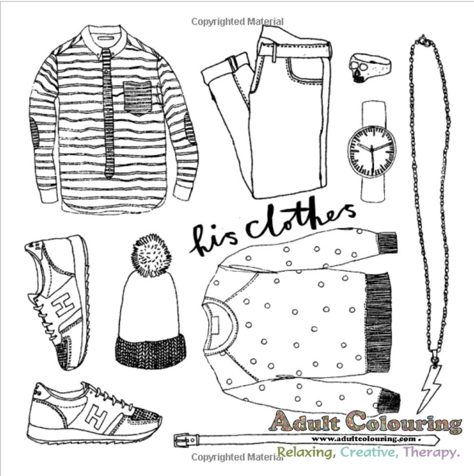 The hipster coloring book for adults - The Hipster Colouring Book