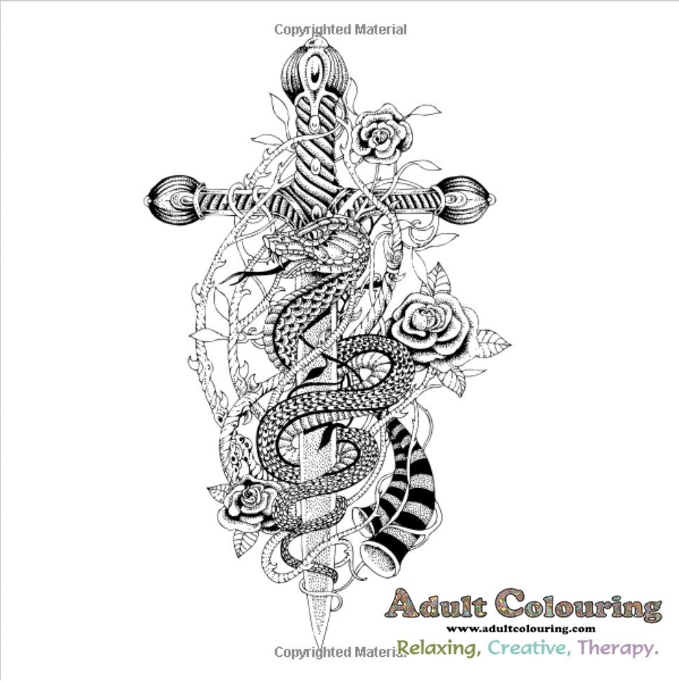 The coloring book tattoo - Tattoo Art Coloring Book Ink Designs For Inner Peace Adult Colouring