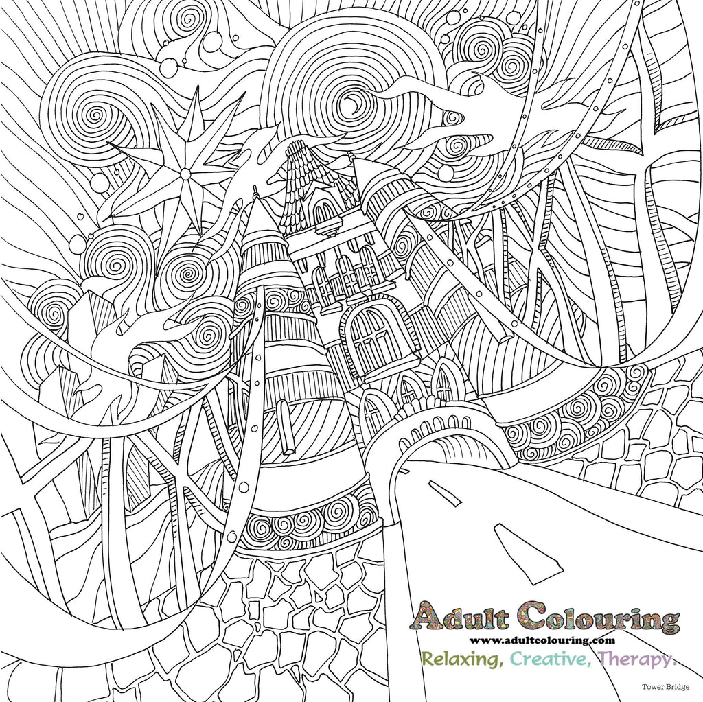 Th the magical city colouring in book - The Magical City