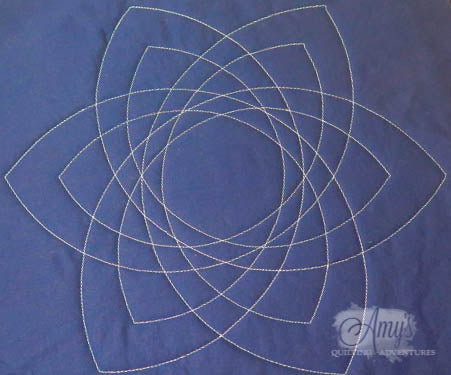 Celtic knot quilting template free motion quilting with rulers