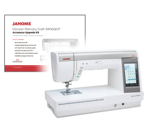 Janome 9400 upgrade kit, ruler work mode, ruler foot