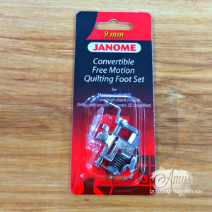 Janome Convertible Free Motion Foot Set for 9mm Machines