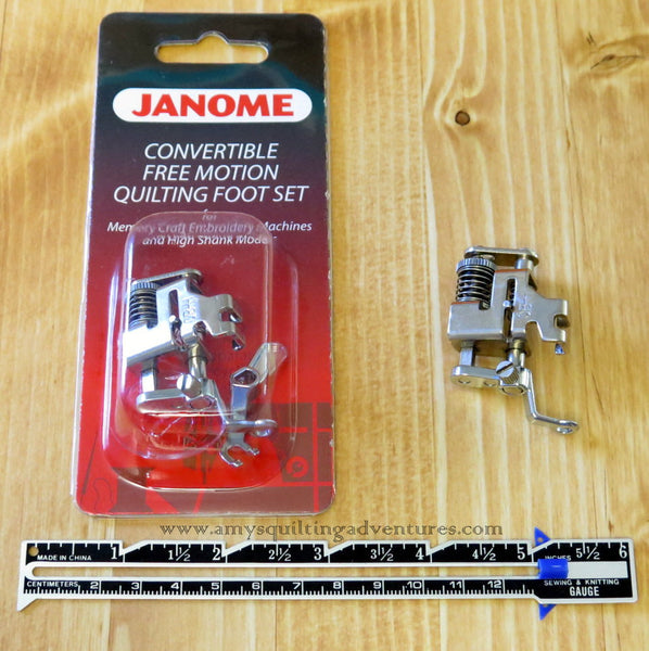 Janome convertible free motion quilting foot set high shank amy39s quilting adventures for Ruler foot and free motion quilting template starter set