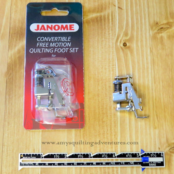 Janome Convertible Free Motion Quilting Foot Set Low