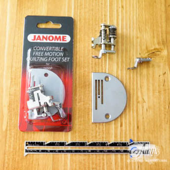Janome 1600P Convertible Free Motion Quilting Foot Set
