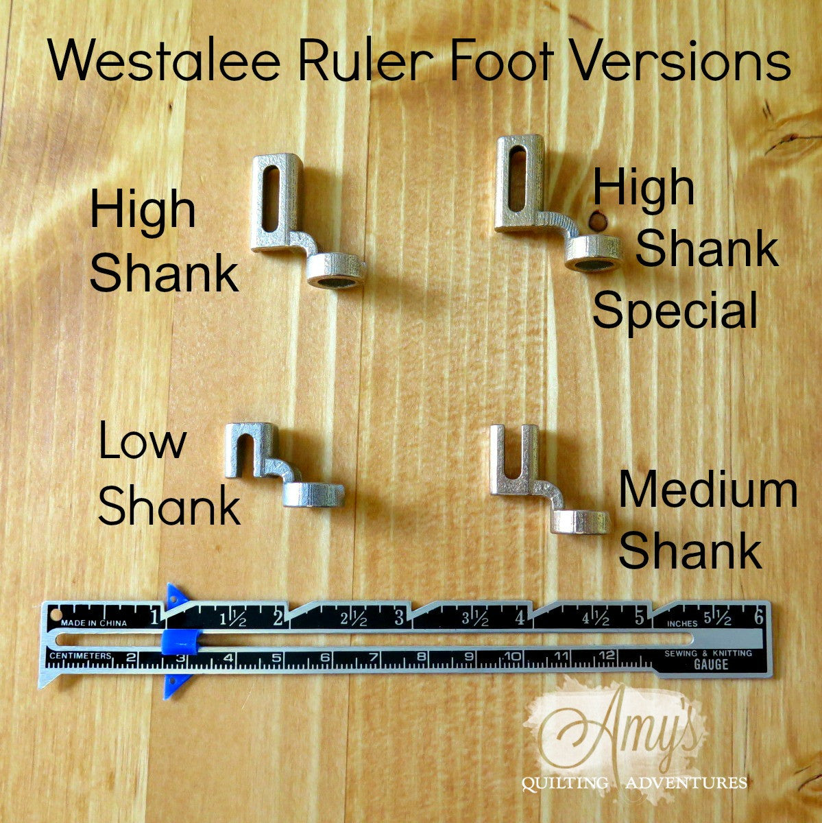 Westalee Ruler Foot Starter Set- ruler foot