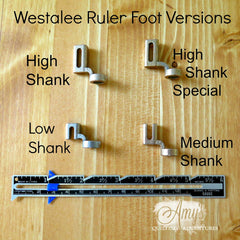 Westalee Ruler Foot Starter Set (Choice of 4 versions)