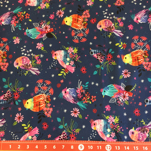 Bright Birds Coordinating Fabric: Floral Bird