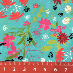 Bright Birds Coordinating Fabric: Tossed Flora