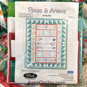 Roses and Arrows Quilt Kit 1