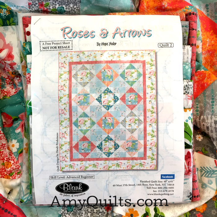 Roses and Arrows Quilt Kit 2