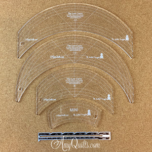 Low Curve Classic quilting ruler set