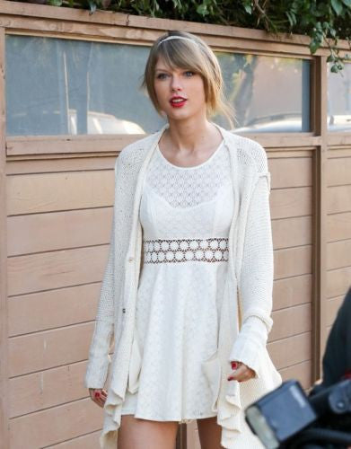 Free People Fitted With Daisies Daisy Waist Ivory White Taylor Swift Dress S 6